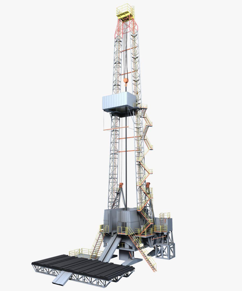 Oil Rig Max 3d Model Oil Rig Drilling Rig Rigs