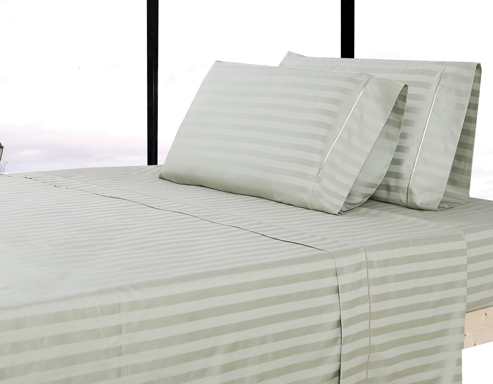 500 Thread Count 100% Cotton Striped Sheet Set