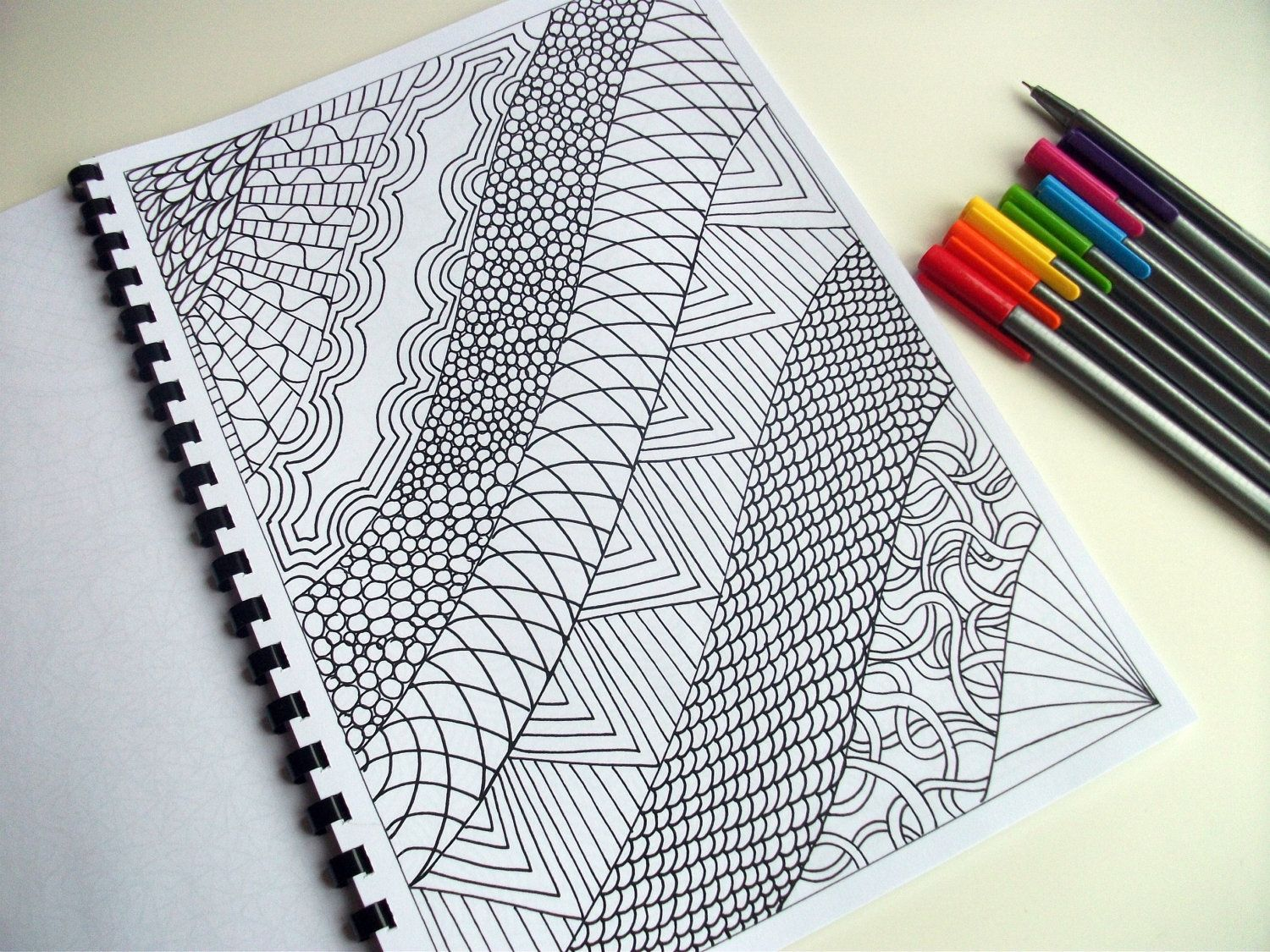 Printable Coloring Page, Zentangle Inspired, Abstract Art ...
