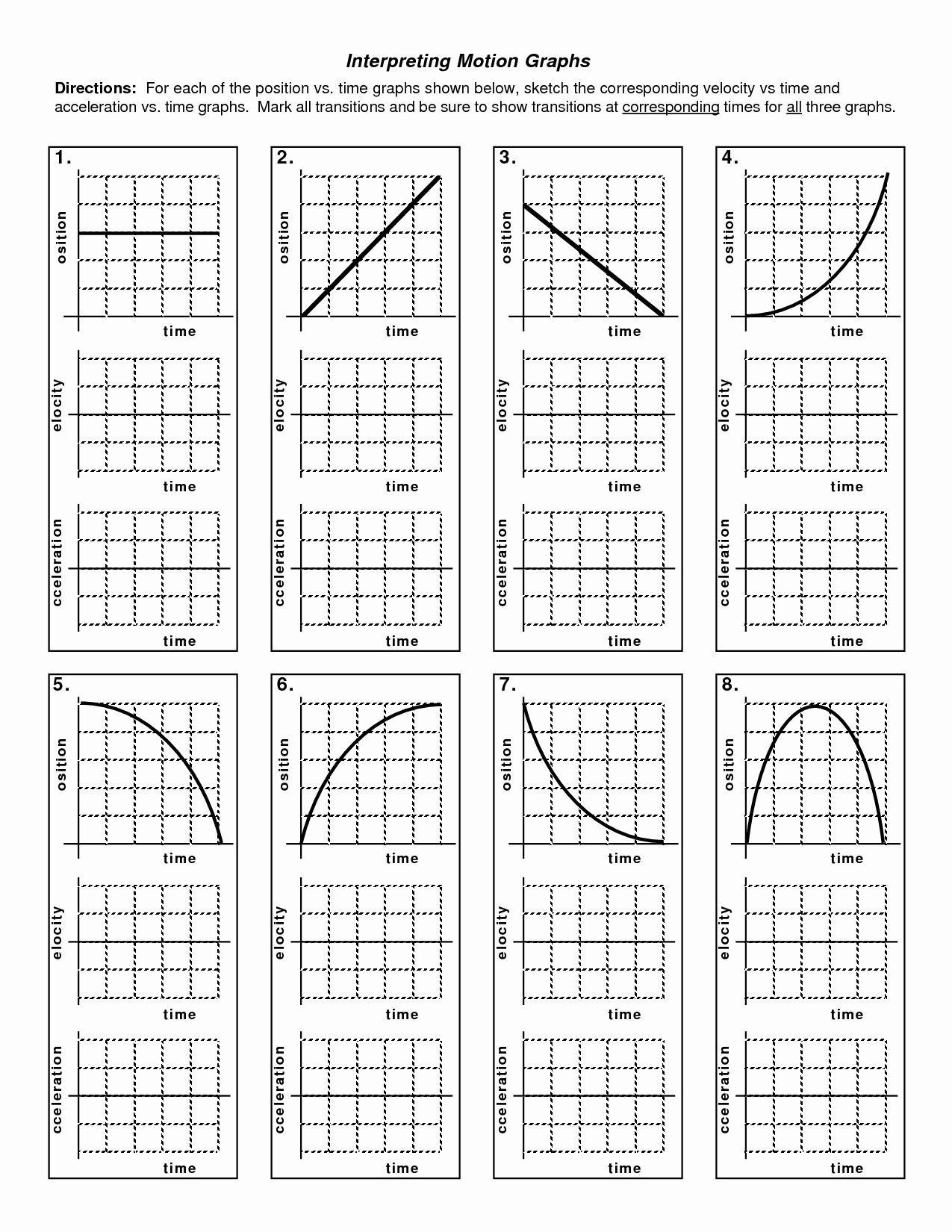 Motion Graph Analysis Worksheet Motion Graph Analysis Worksheet New Kinematics Motion Graph In 2020 Motion Graphs Worksheets Motion Graphs Worksheet Template