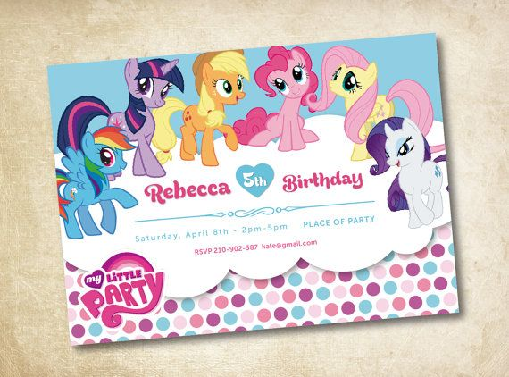 My Little Pony Invitation by MagicalParty on Etsy, $11.00 ...