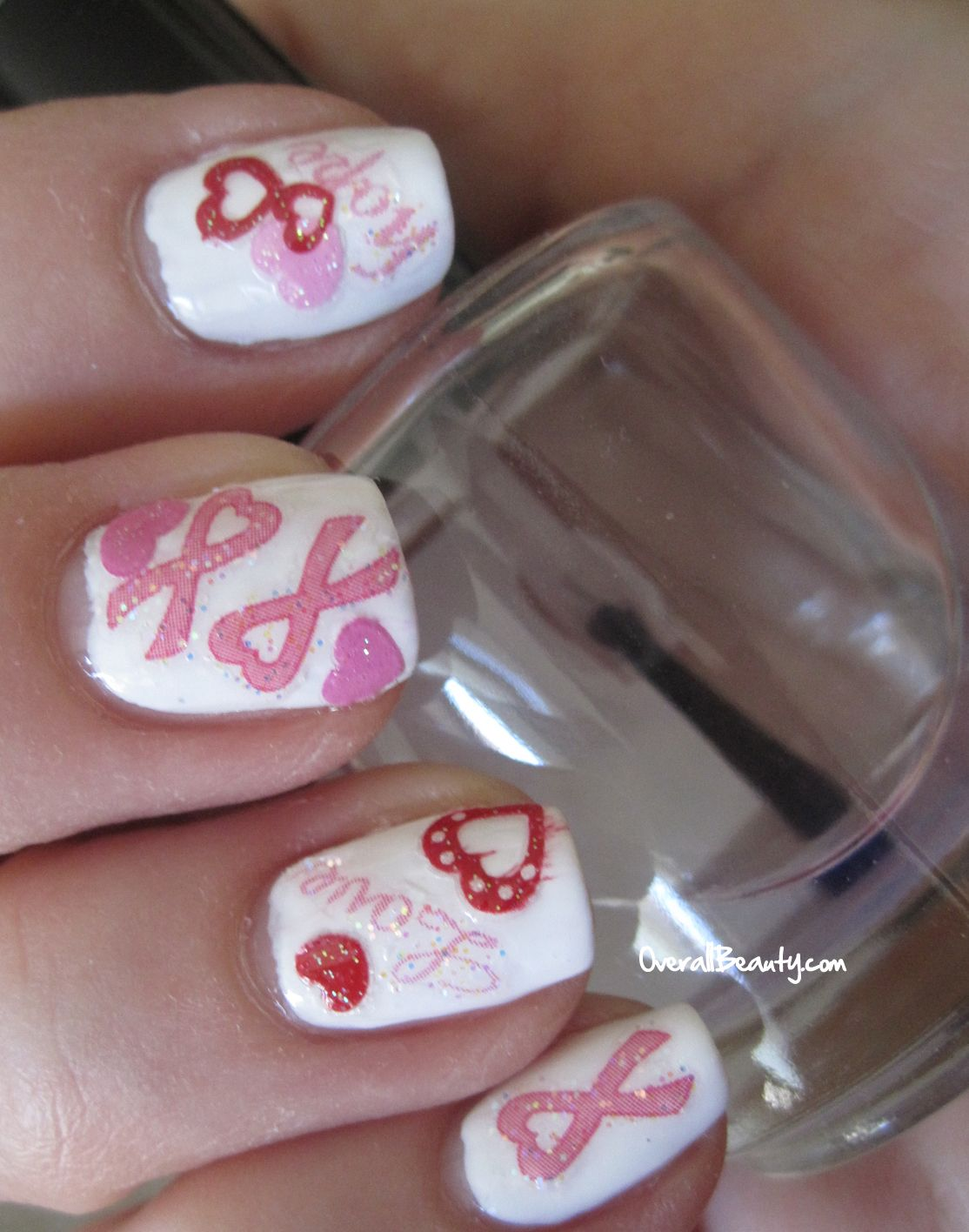 Pink Ribbon Art Work | ... and More › Joby Nail Art Decals › Pink ...