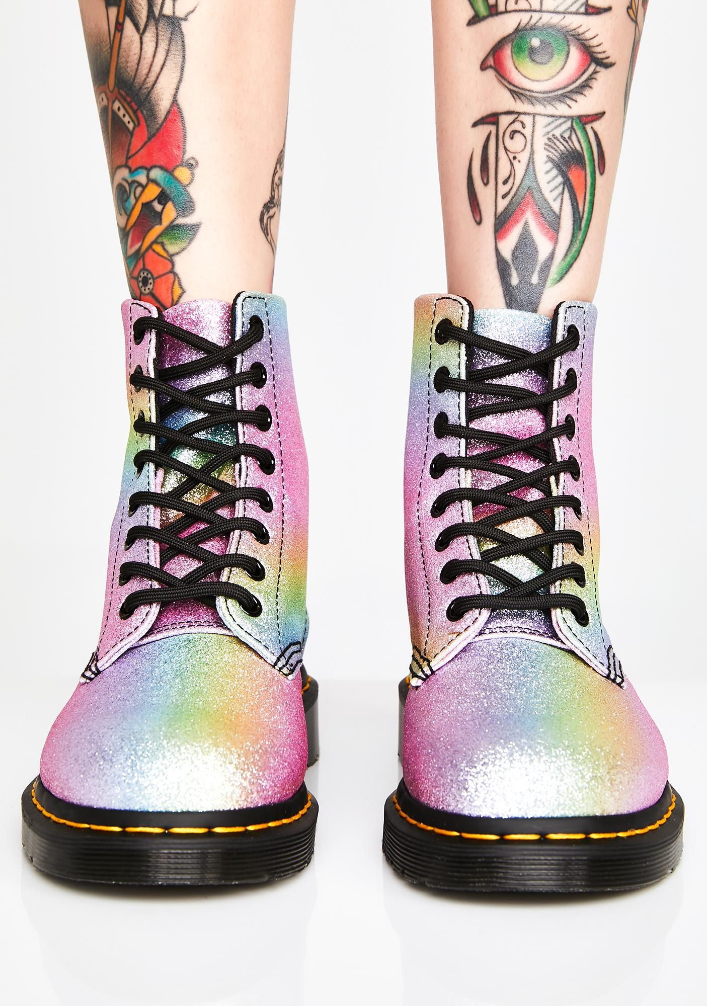 Rainbow Glitter Pascal Boots | Boots