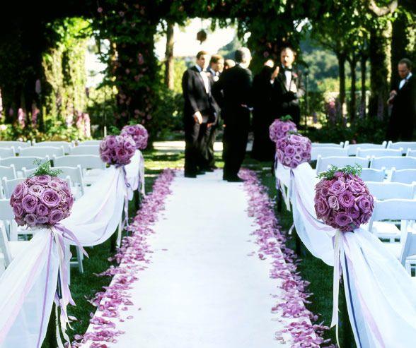 Wedding Purple Flowers Enchanted Garden