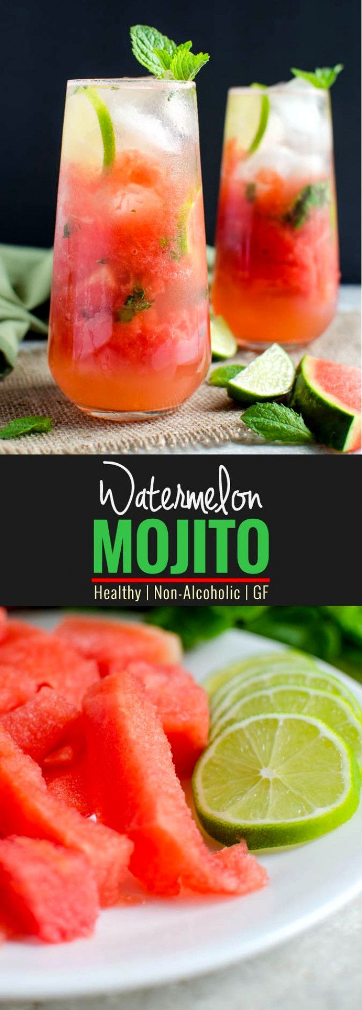 Quick And Easy Watermelon Mojito Recipe | Healthy Summer Drink #summeralcoholicdrinks