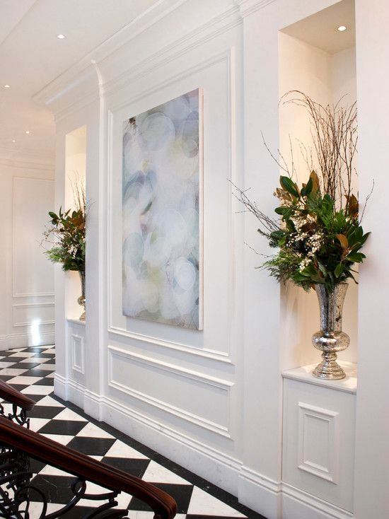 Living Room Wall Panel Design: Hall By Kindred Construction Ltd. Http://www.houzz.com