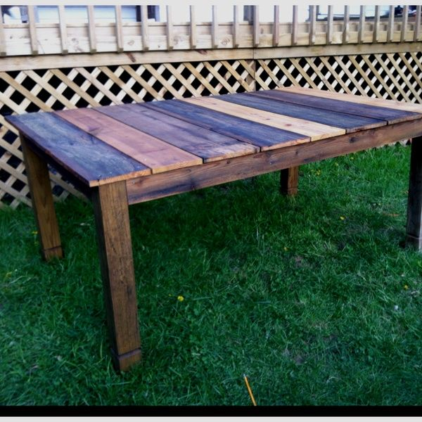 My Outdoor Dining Table Made From 50 Year Old Reclaimed Wood For