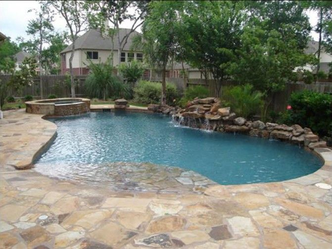 Custom Swimming Pool Add Ons & Features Beach entry pool