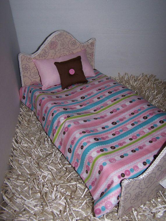 Comforter Set For 18 Dolls Multi Color Buttons by oldspoolmom