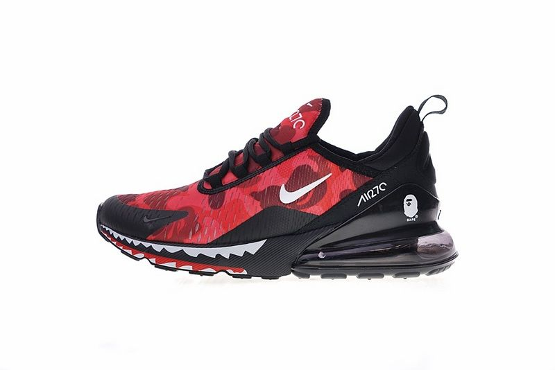 huge selection of 72301 b2c6f Authentic Nike Air Max 270 Red Black Shark AH6799 016