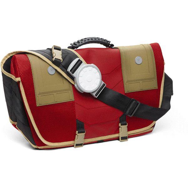 Marvel Stark Industries Messenger Backpack ($7.95) ❤ liked on Polyvore featuring bags, backpacks, strap bag, daypack bag, rucksack bags, messenger backpack and backpack messenger bag