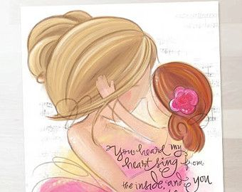 Brunette Mother And Blonde Daughter Wall Art I Love By Megngrace I Love My Daughter To My Daughter Mother Daughter Quotes