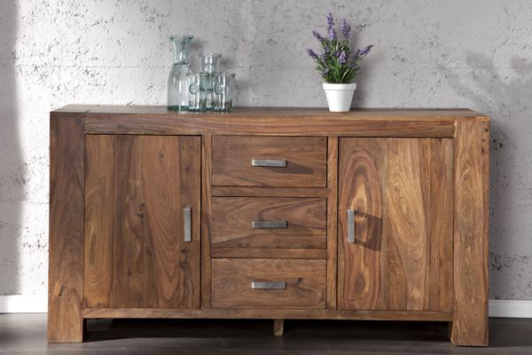 exklusives sideboard makassar ii sheesham massivholz natur bei riess ambiente sideboards. Black Bedroom Furniture Sets. Home Design Ideas