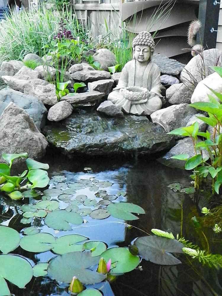 Petite Cascade De Jardin Pour Embellir L Espace Exterieur Cascade De Jardin Jardin Asiatique Bassin De Jardin