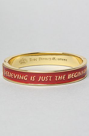 The Believing Is Just The Beggining Bracelet by Disney Couture Jewelry