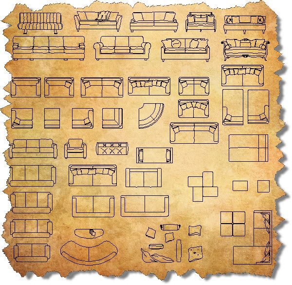 Cad Furniture Sofas Interior Design Tips Pinterest