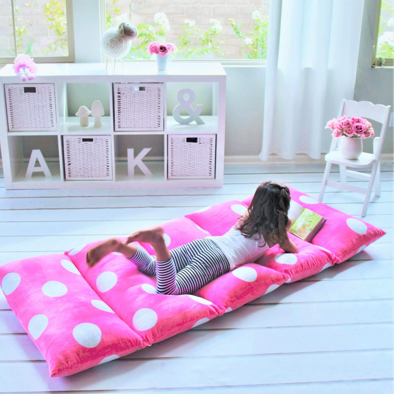 Butterfly Craze Girl's Floor Lounger Seats Cover and