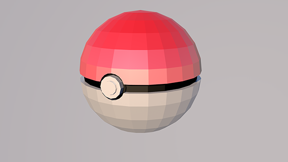 Pokeball Low Poly Model Low Poly Models Low Poly 3d Models Low Poly 3d