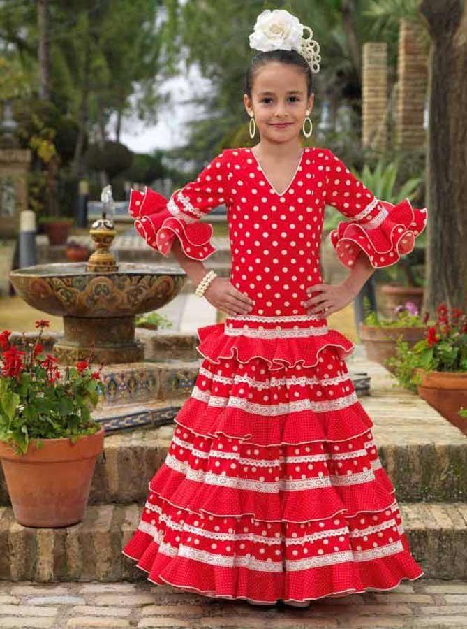 Modelo Giraldillo De La Empresa De Confección Aires De Feria Traje Flamenca Niña Vestido Flamenco Niña Vestidos Para Niñas