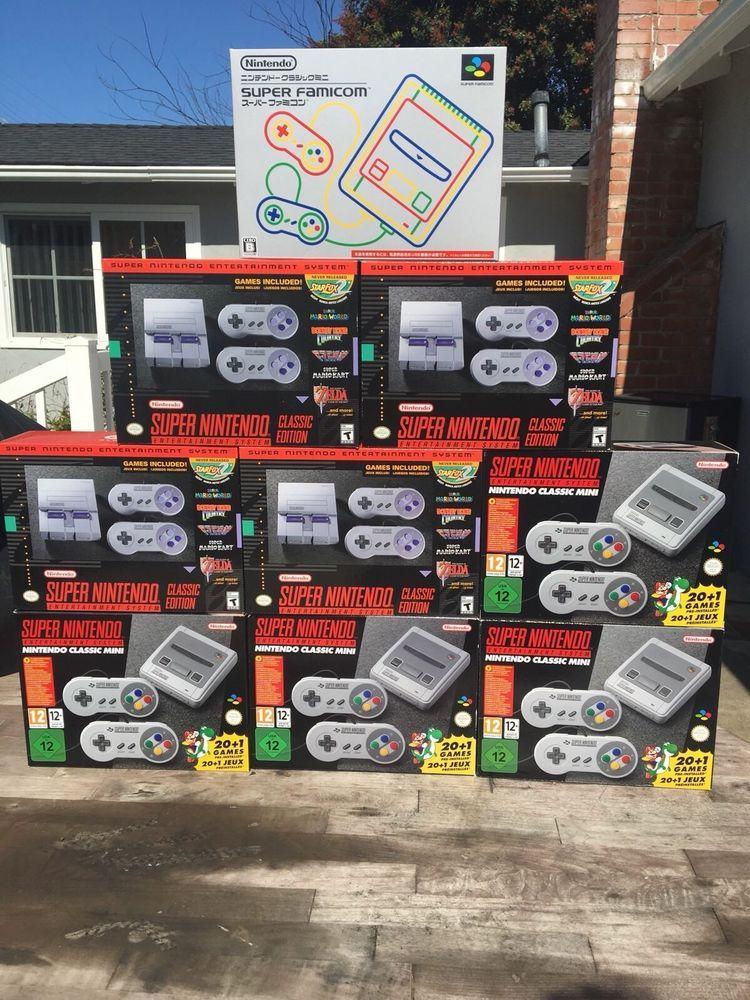 Nintendo SNES Super NES Classic Edition Mini Console - EU Version