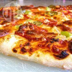 La Mejor Masa De Pizza Masa Para Pizza Masa Para Pizza Recetas Masa De Pizza Casera