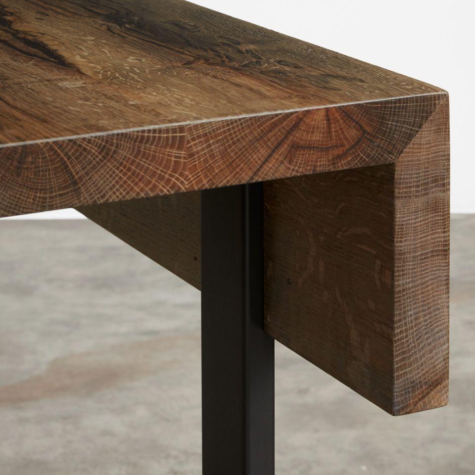 Edge Detail Of Mitered Ebonized Oak Console