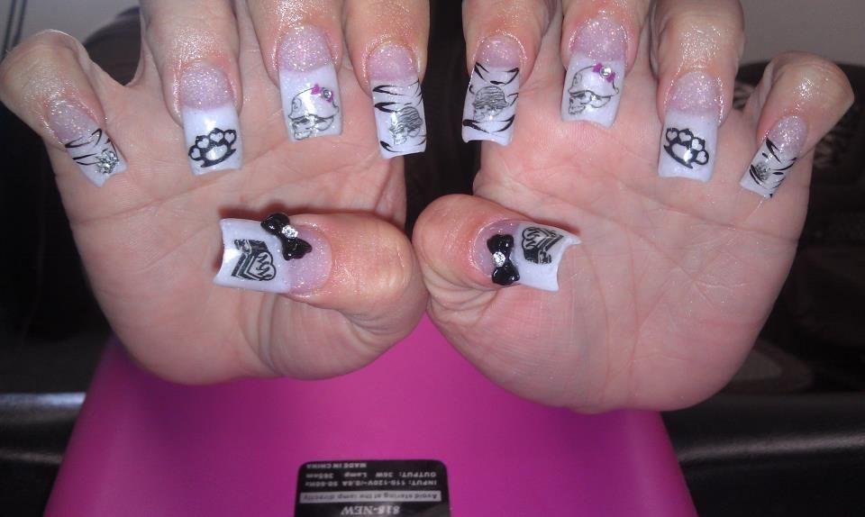 White tip metal mulisha nails | Motocross :) | Pinterest | Metal ...