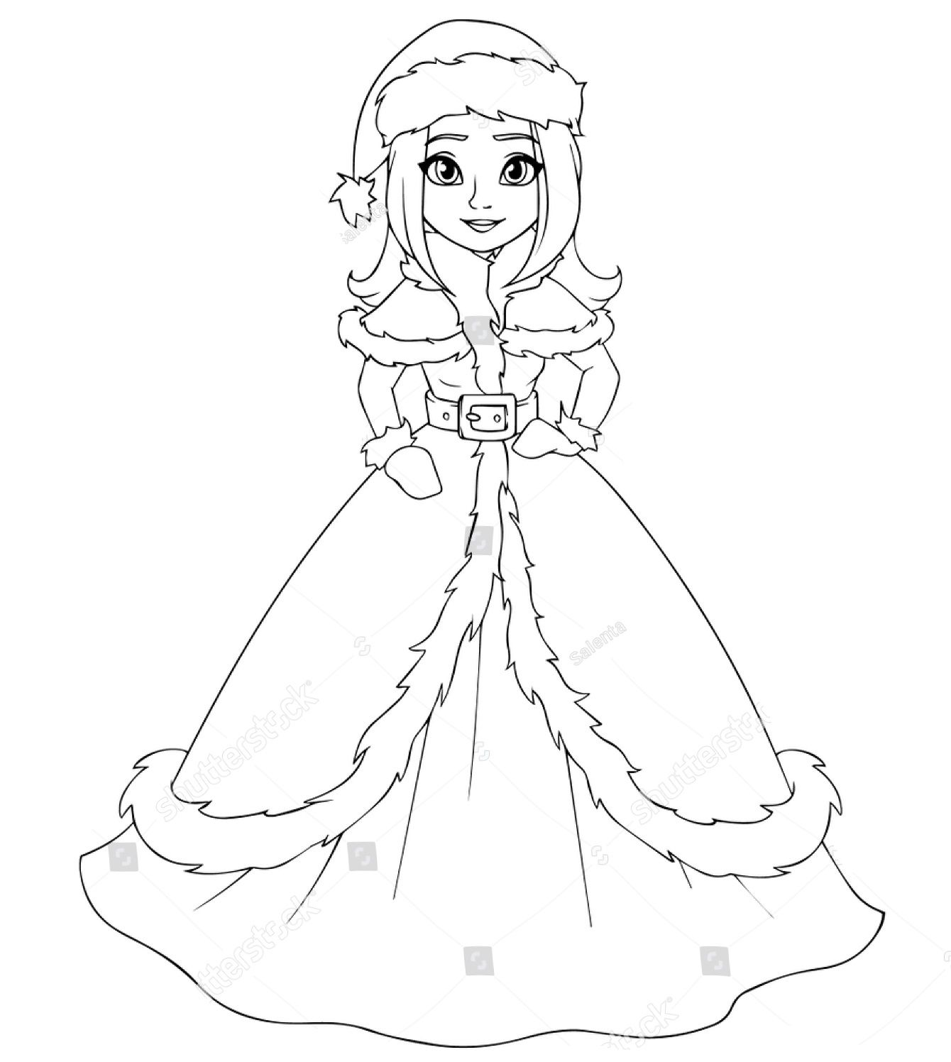 Winter Princess Coloring Pages - Workberdubeat Coloring