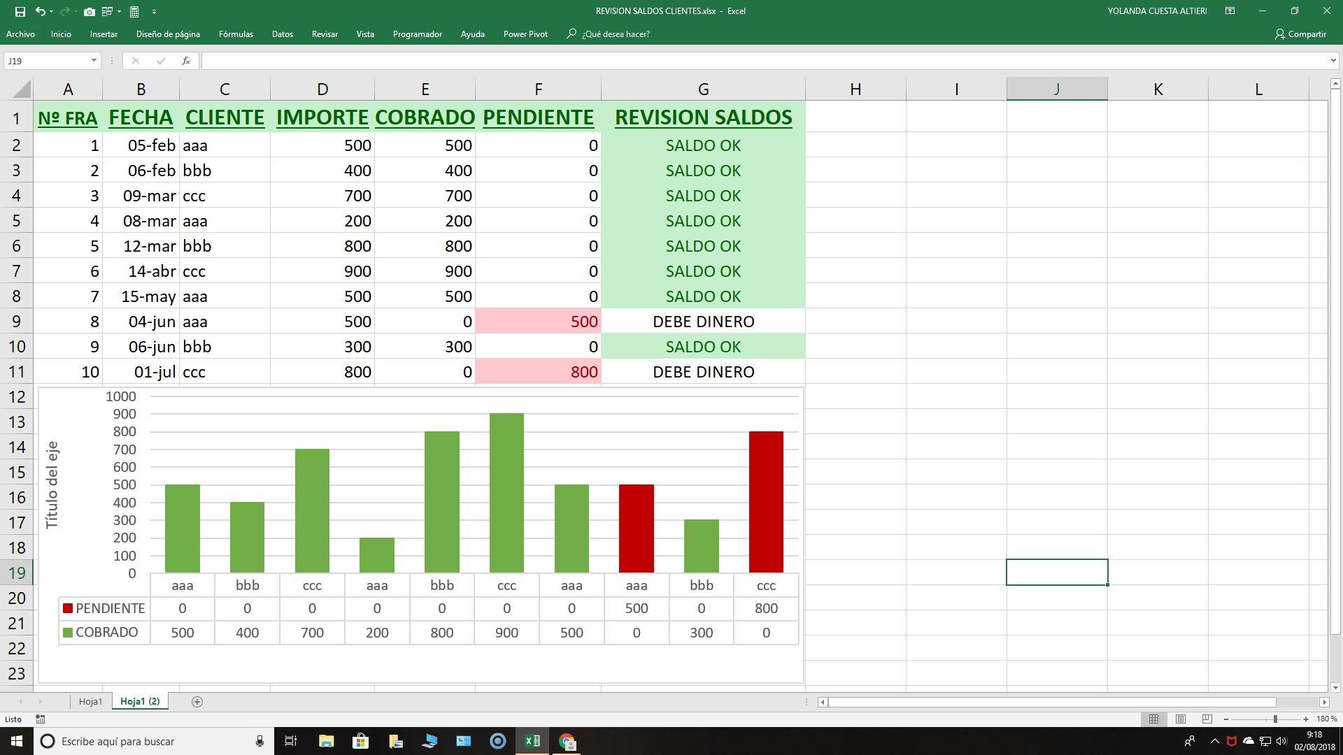 Excel Pagos Facturas Para El Control De Cobros A Clientes Administracion De Negocios Hojas De Cálculo Administracion De Empresas
