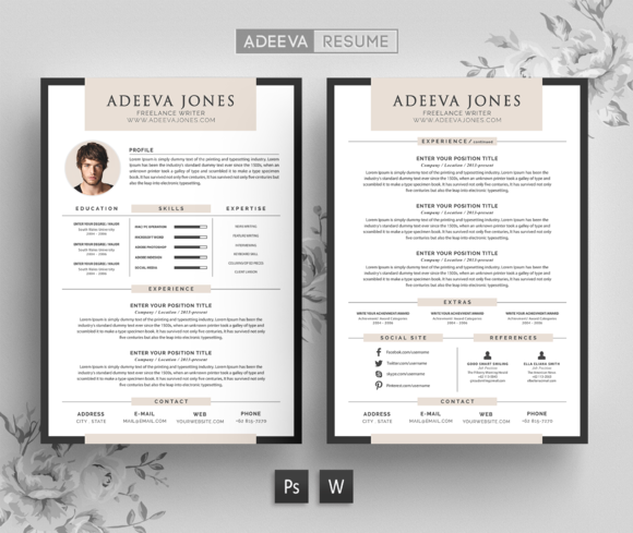 Professional Resume Template Jones  Professional Resume
