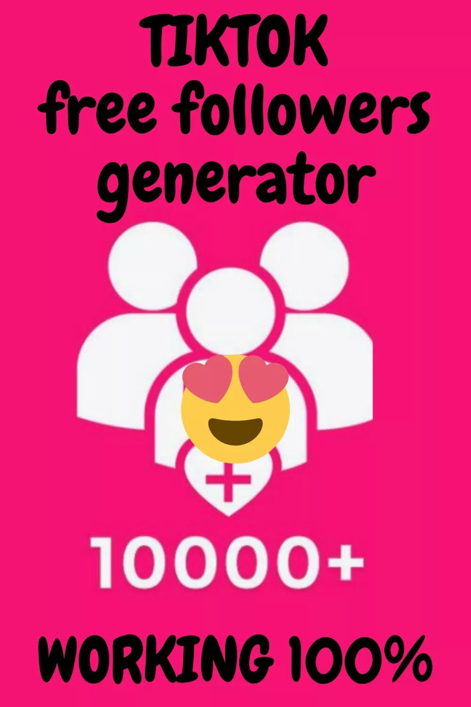 Tiktok Free Followers Generator Tool In 2020 Free Followers 10k Instagram Followers Generation