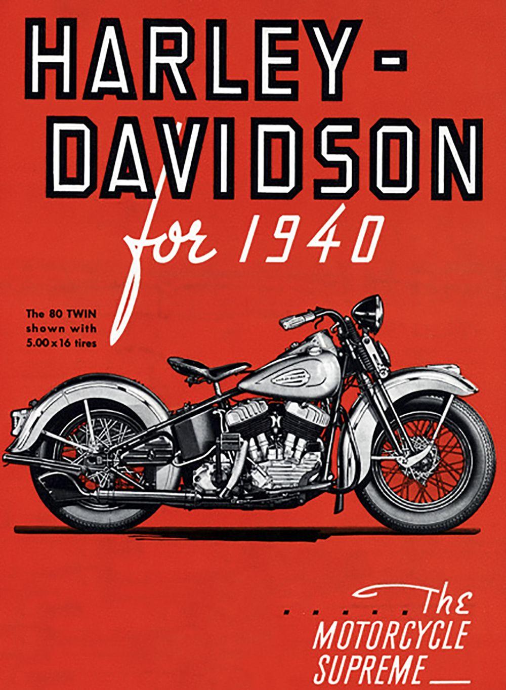 HARLEY DAVIDSON 1940 The MOTORCYCLE SUPREME Oldtimer