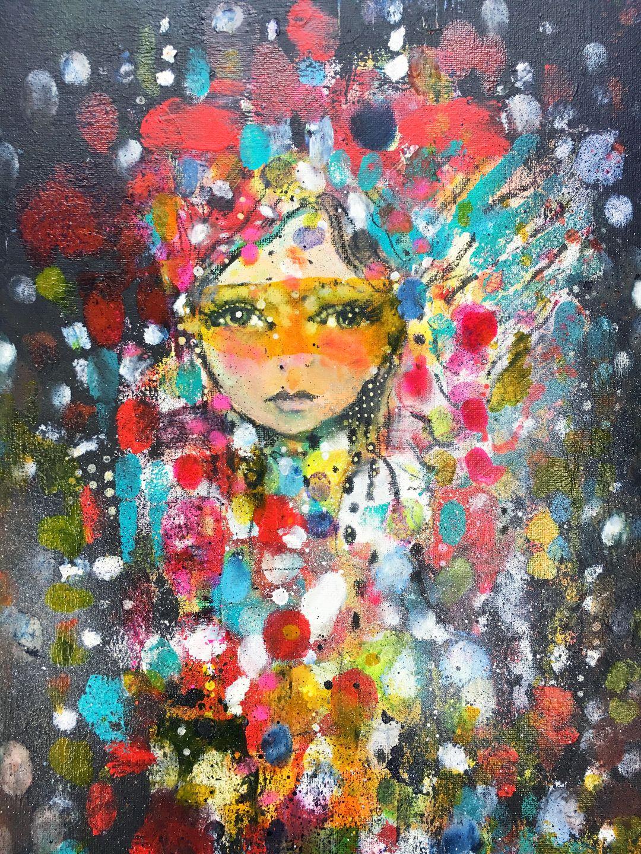 artsupplies ~ Created with spray paint, inks, acrylic, oil ...