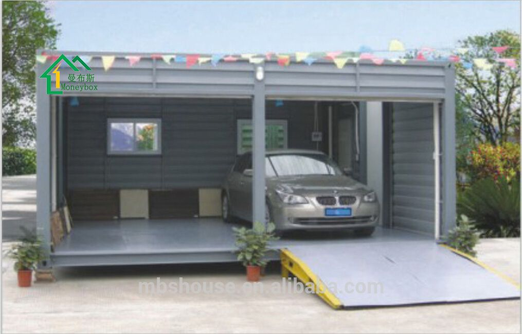 Prefab car garage container carport storage container in for Prefab double garage
