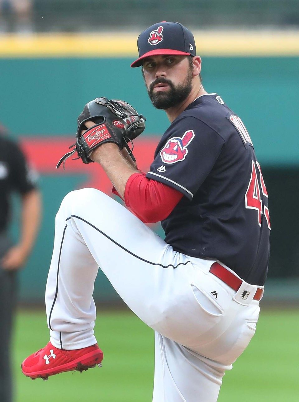 Cleveland Indians Adam Plutko Pitching Against The Minnesota Twins At Progressive Field Aug 29 2018 Cleveland Indians Indians Baseball Minnesota Twins
