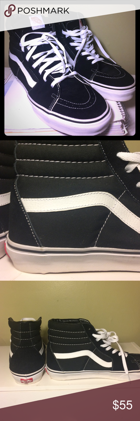how to clean black and white sk8 hi vans