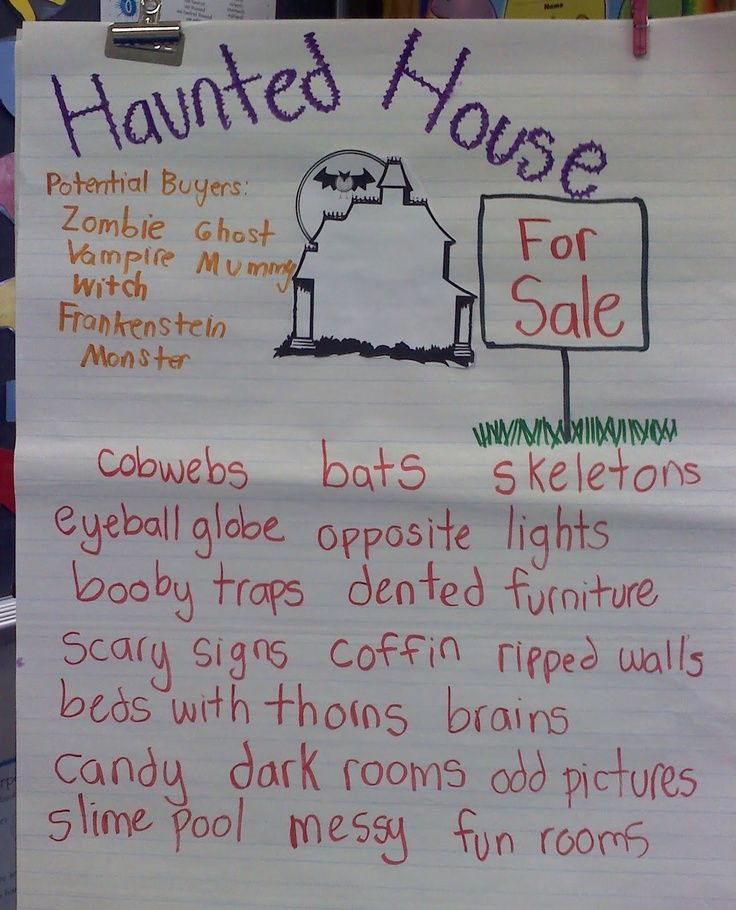 haunted house writing project halloween activities haunted house writing project