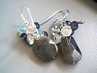 Labradorite Jewelry withRainbow Moonstone Rock Quartz by Lilyb444, $25.00