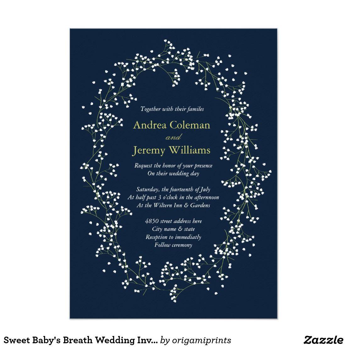 Sweet babys breath garden botanical wedding invite invitation invites wedding stopboris Images