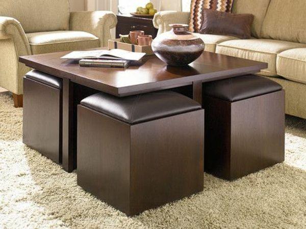 La Table Basse Avec Pouf Pour Un Style De Vie Moderne Archzine Fr Table Basse Pouf Table Basse Avec Tabourets Table Basse Ottoman