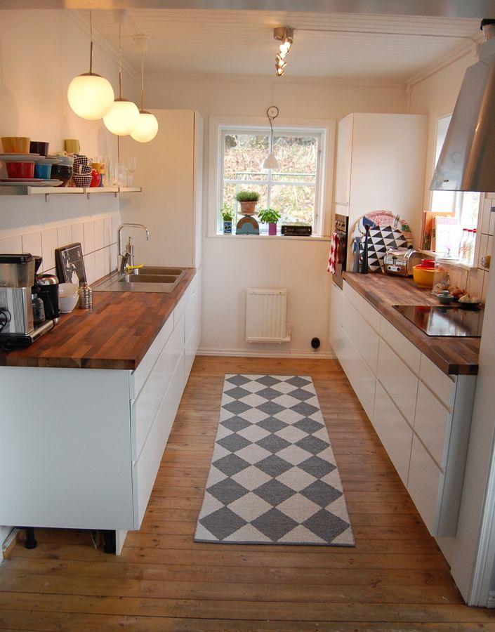 nette helle k che home kitchen pinterest schmale k che k chen ideen und haus. Black Bedroom Furniture Sets. Home Design Ideas