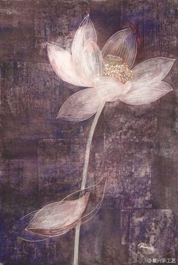 Dame De Lotus から保存した Flor De Loto さんの花 水彩画 蓮の花 日本画