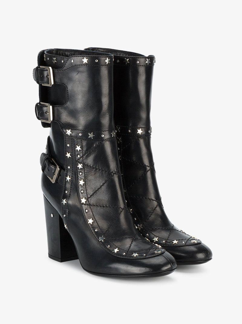 40 or    Laurence Dacade Black Merli Star Stud 100 Boots - https ... a5dd1ef2aab0
