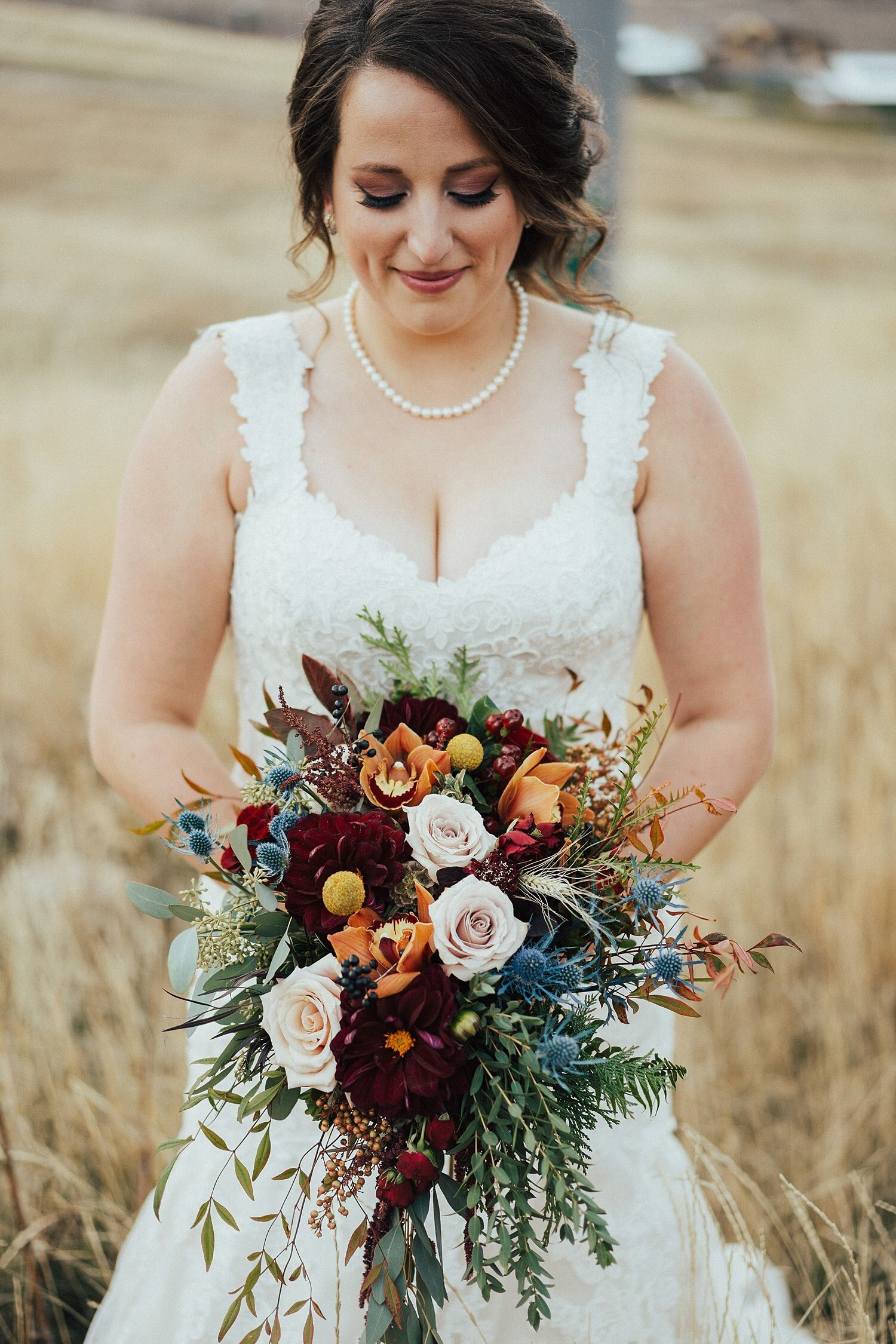 Rustic Cranberry and Orange Wedding Florals with Fall Foliage at Snowbasin Resort — Poppy & Bloom Floristry