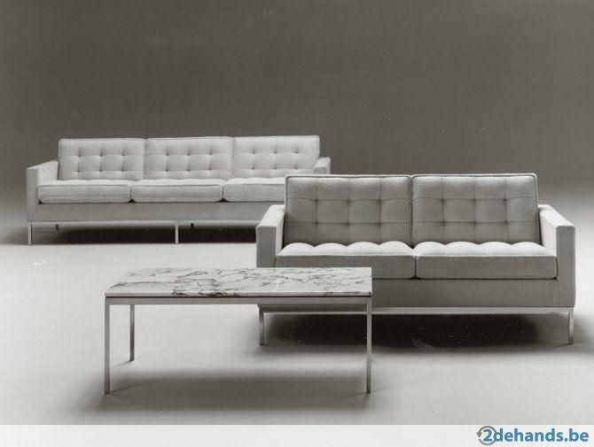 Knoll florence knoll lounge chair 2 zits grijs nieuwst. te koop