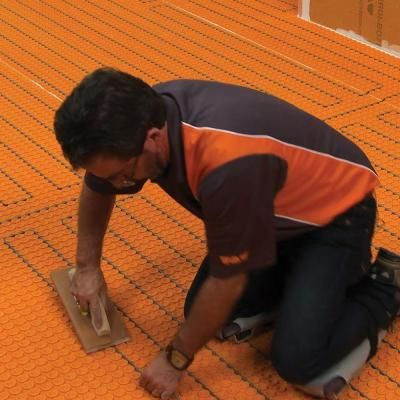 Schluter Ditra Heat 120 Volt 60 3 Sq Ft Electric Flooring Warming Kit Dhek12056 The Home Depot Heating Systems Flooring Heated Floors