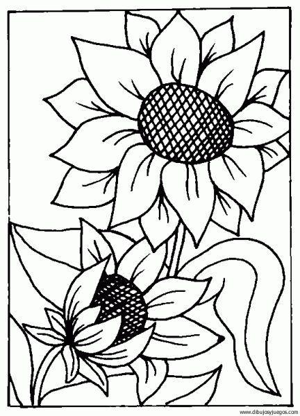 Resultado de imagen de girasoles para pintar en tela  flores del