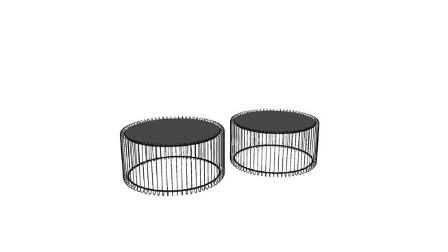 Large Preview Of 3D Model 79577 Side Table Wire Black 2 Set
