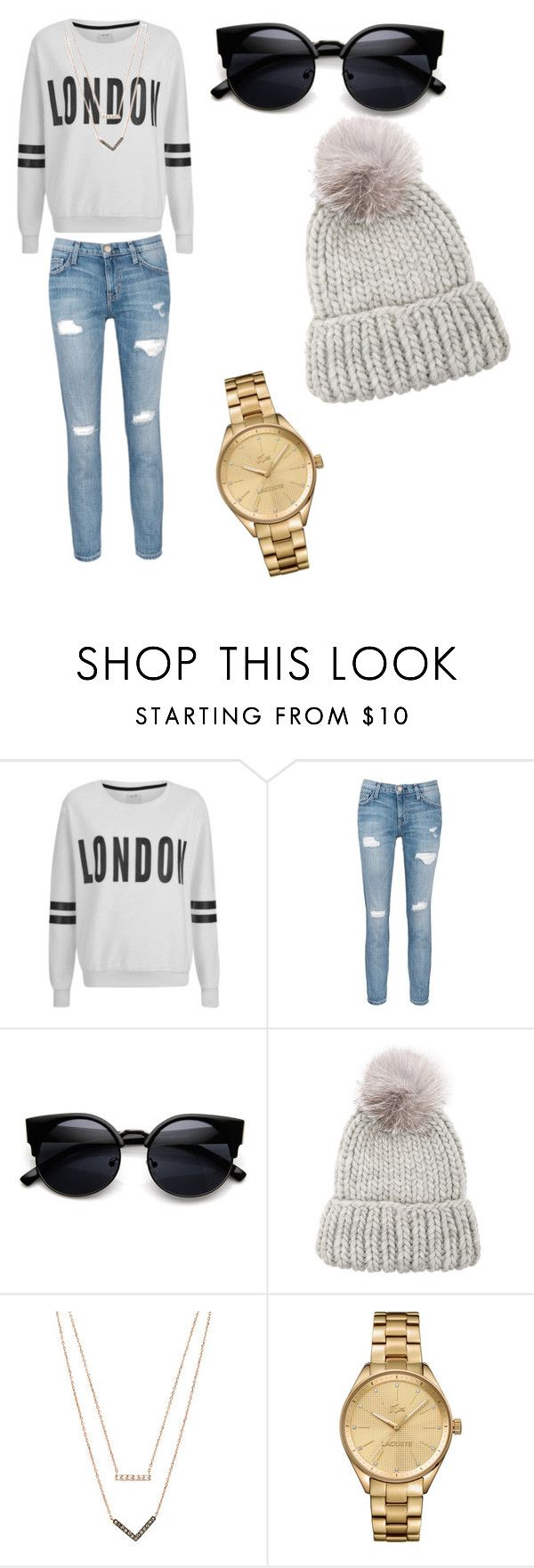 """""""Untitled #3"""" by maruv2005 ❤ liked on Polyvore featuring ONLY, Current/Elliott, Eugenia Kim, Michael Kors, Lacoste, women's clothing, women's fashion, women, female and woman"""