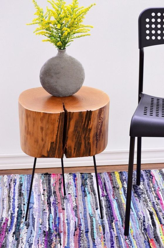 How To Make A Tree Stump Side Table With Diy Legs Tree
